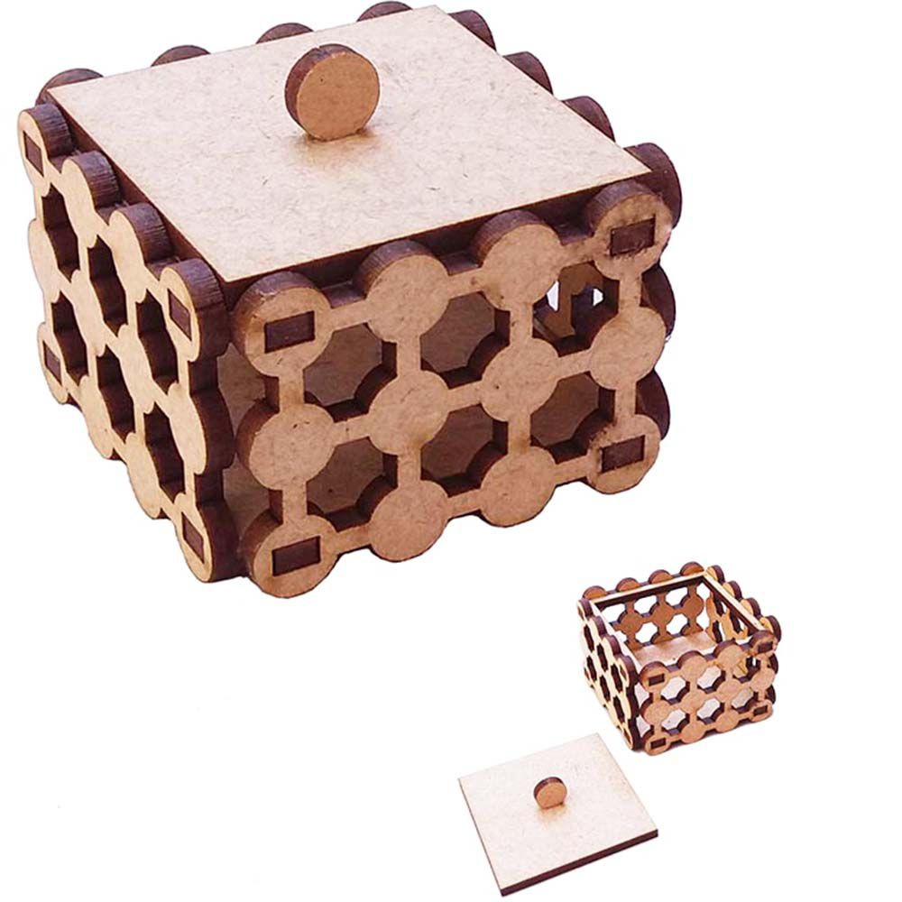Mini caixa caixinha mdf perola 5,5 x 5,5 cm com tampa