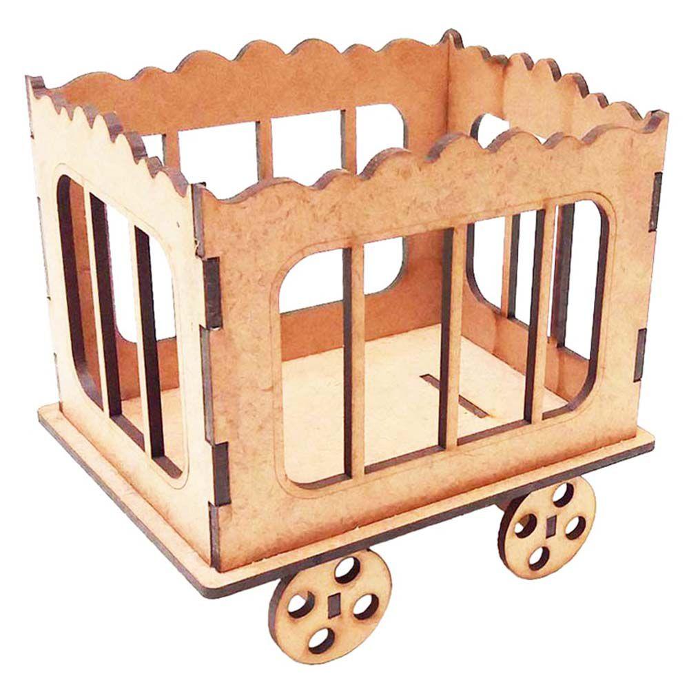 Mini Jaula 13 cm mdf centro de mesa festa circo parque
