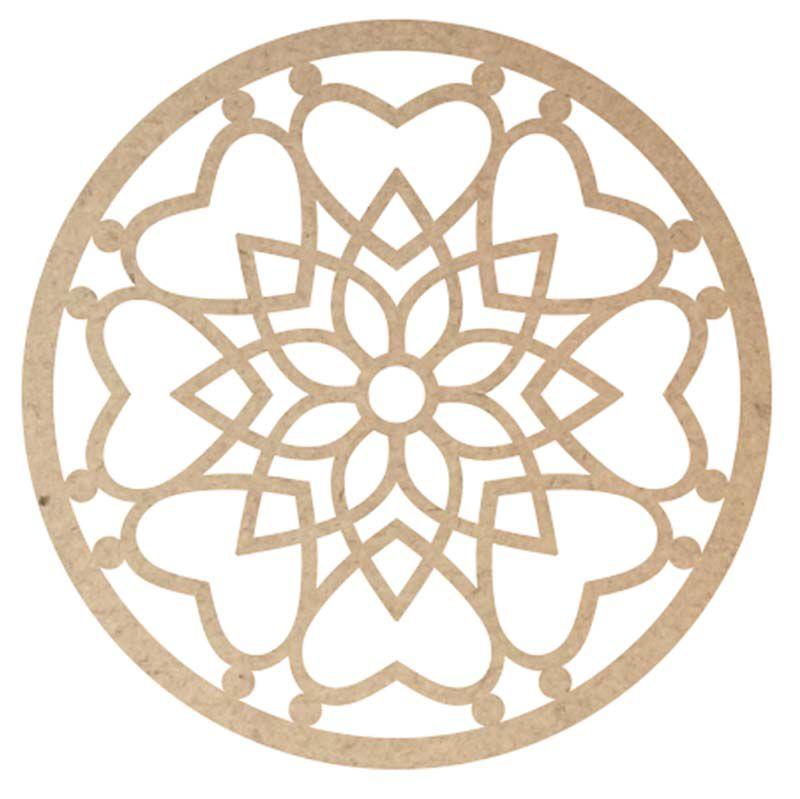 Mini Mandala mdf 15 cm m3 decoração casa filtro artesanato