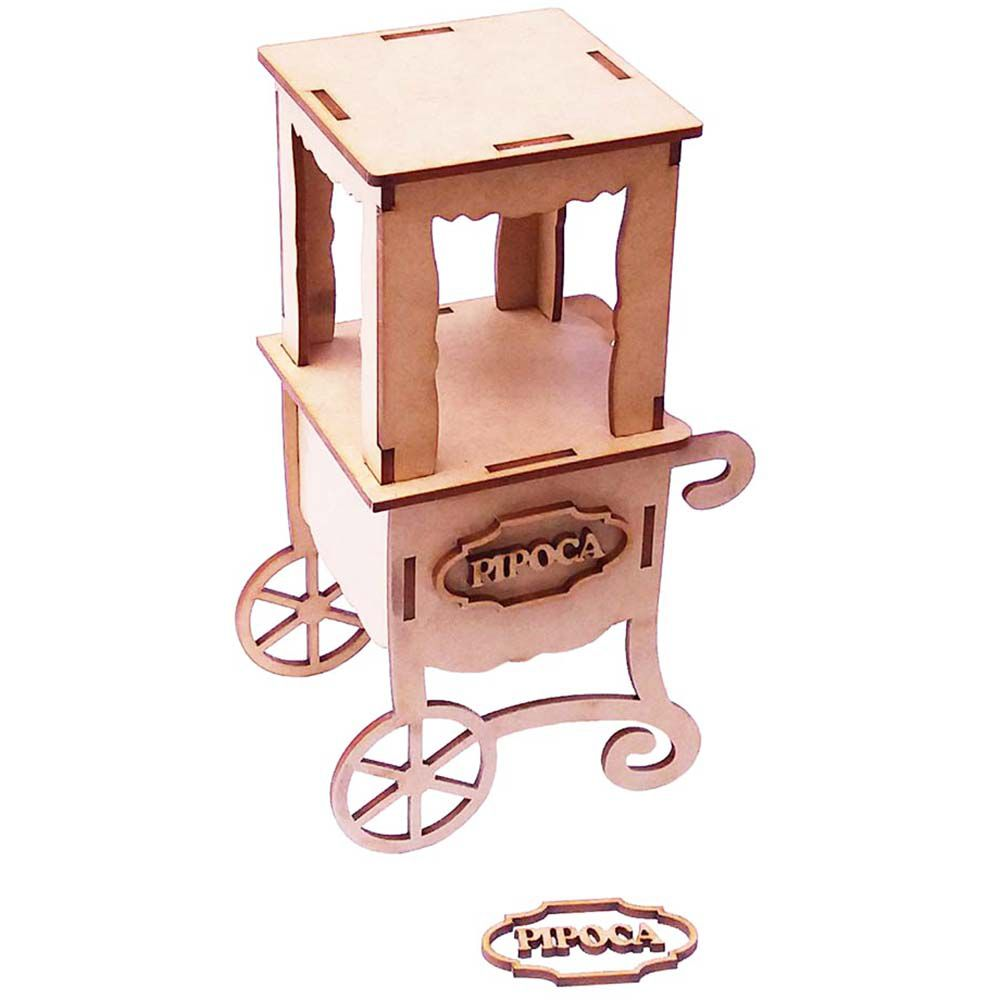 Mini pipoqueira 13 cm carrinho de pipoca festa junina circo