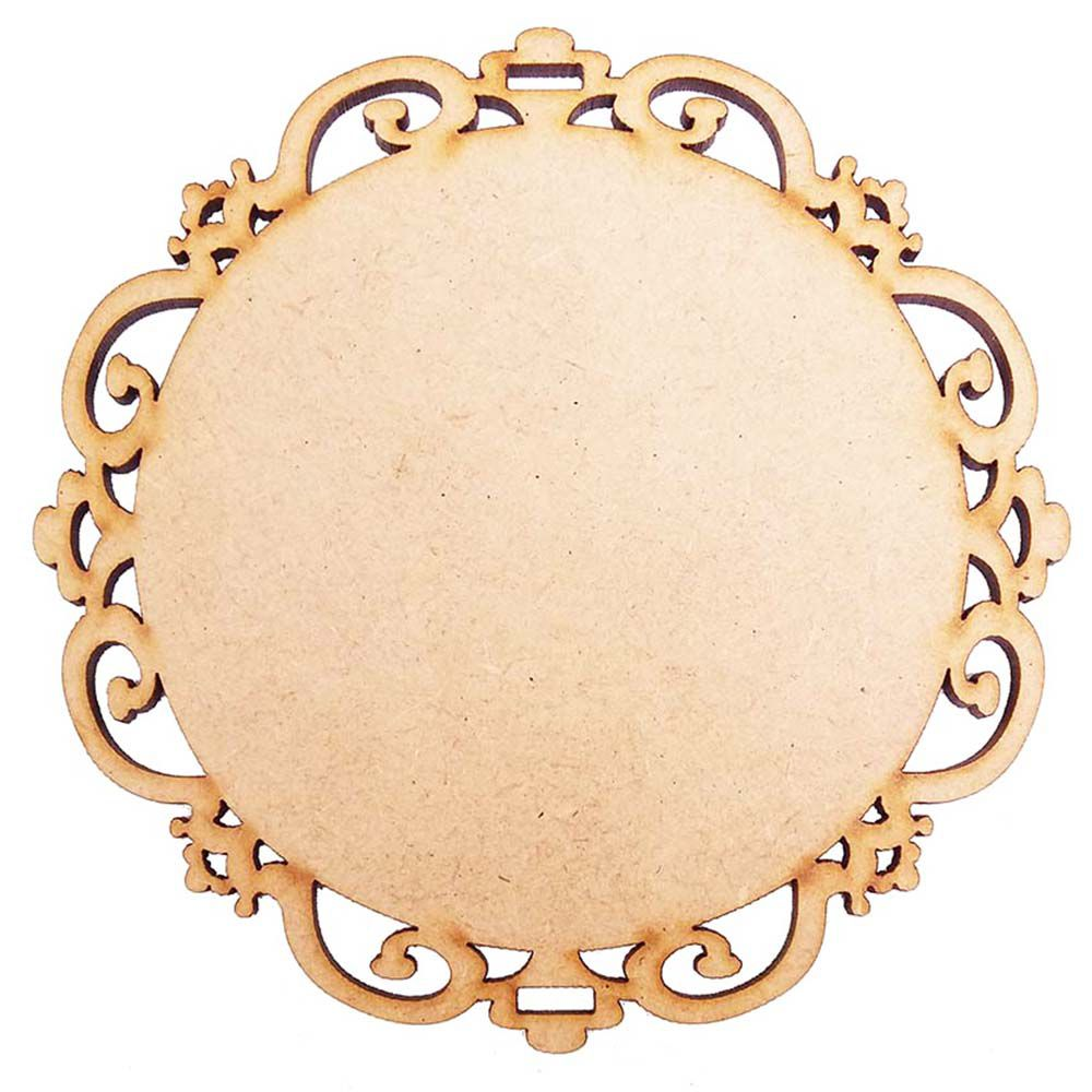 Mini Placa mdf moldura escapulário 12 cm m4 artesanato decor