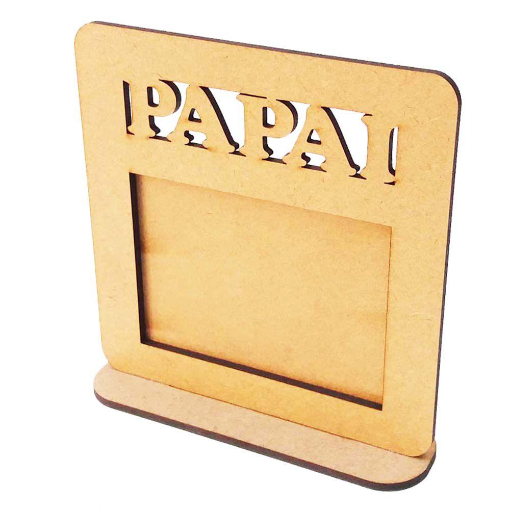 Mini Porta retrato papai mdf foto 10 x 7 hz Dia dos pais