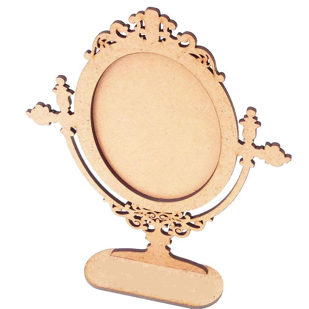 Moldura 19cm espelho de mesa mdf m1 foto adesivo convite