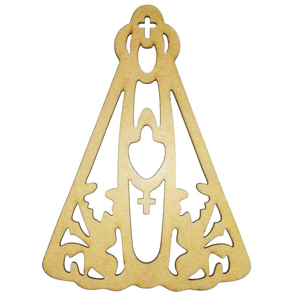 Nossa Senhora recorte mdf 30 cm decoração arte religiosa