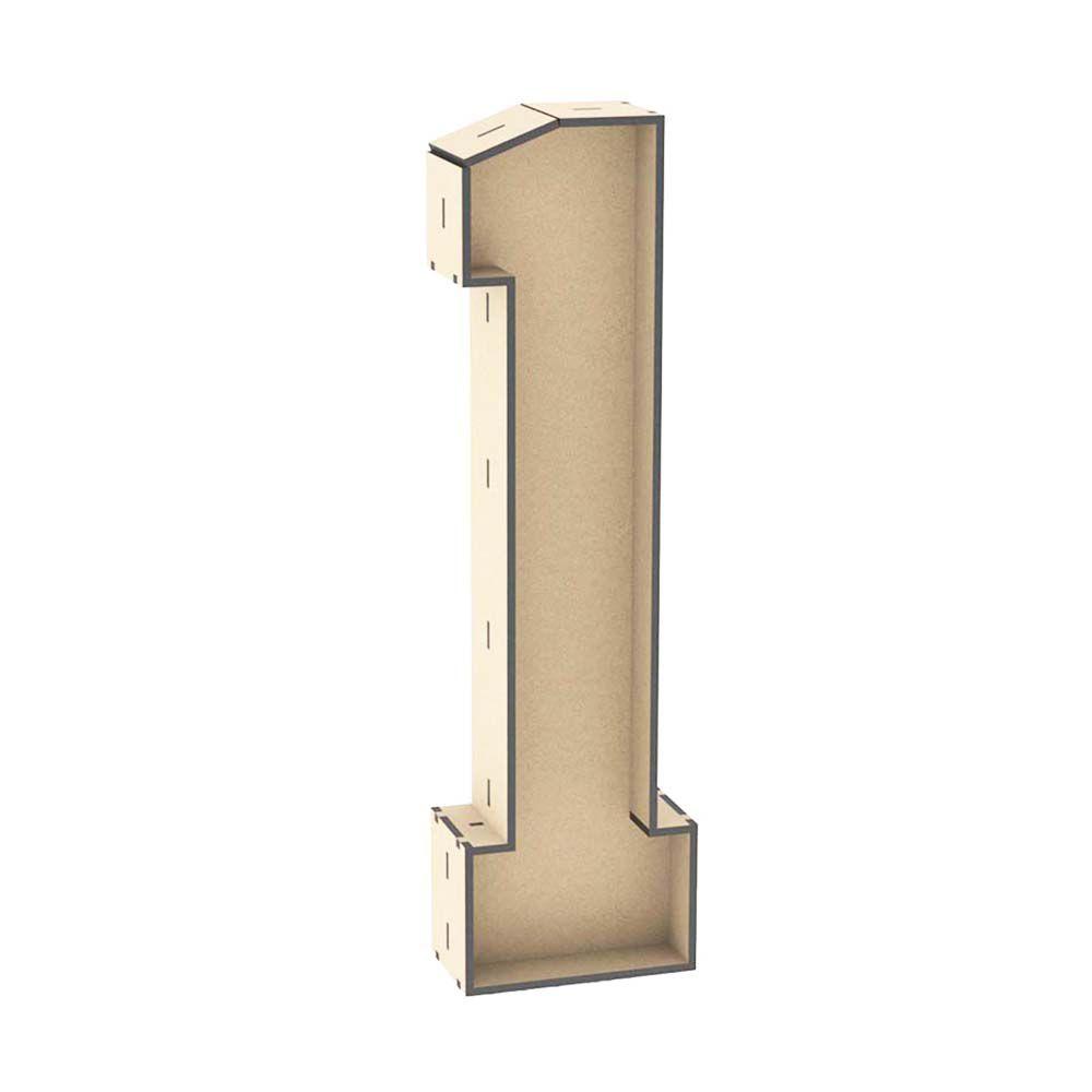 Numero 1 mdf caixa 30 cm decoração nome data mesa festa