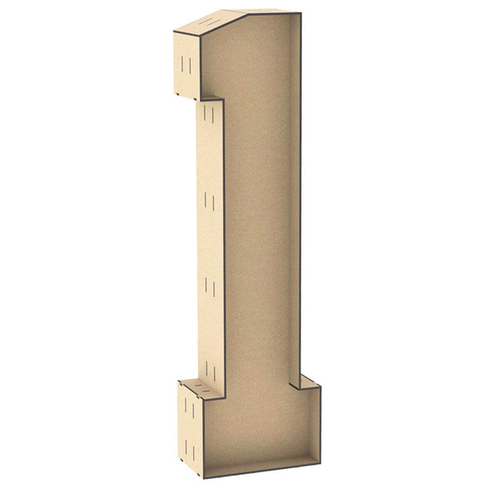 Numero 1 tipo caixa 1 metro reforçado mdf enfeite chão festa