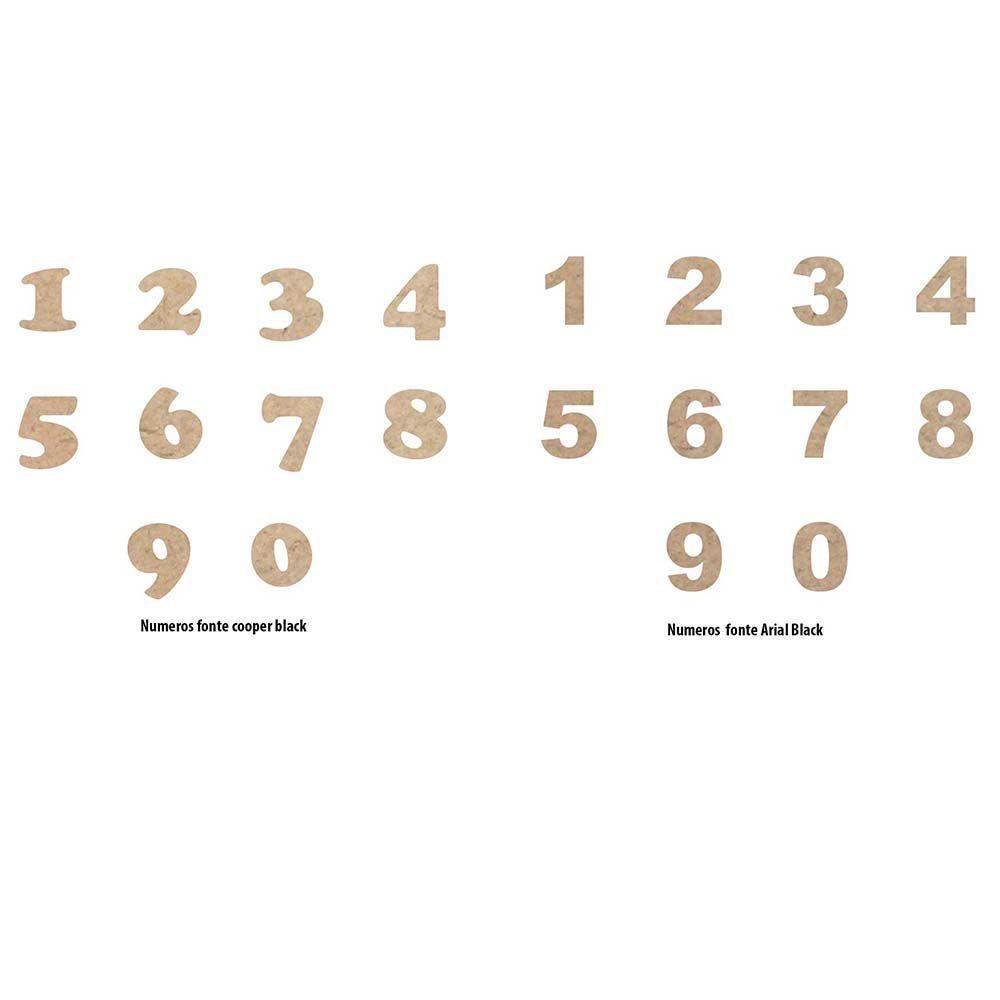 Número aplique mdf 10 cm altura escolha o numero e fonte
