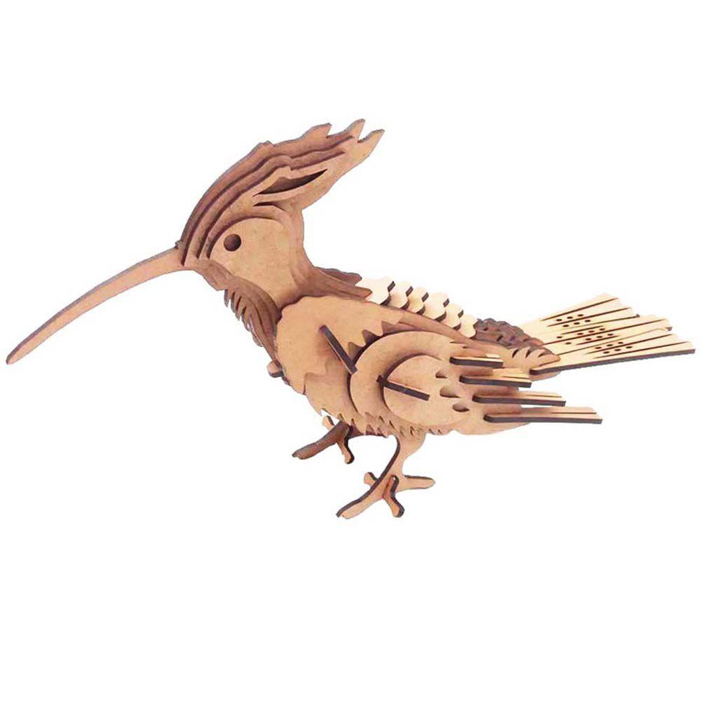 Pássaro Pica Pau Quebra Cabeça 3D mdf