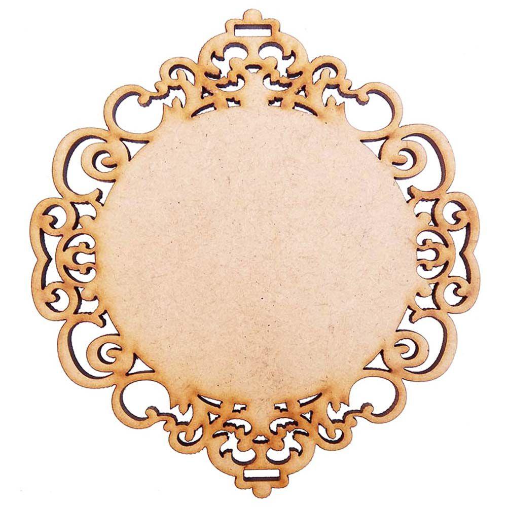 Placa mdf 20 cm m5 provençal arabesco artesanato escapulário