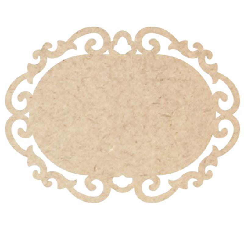 Placa mdf arabesco 18 x 13,5 cm decoração artesanato festa