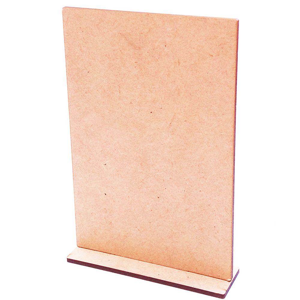 Placa mdf miniatura mini painel totem porta foto vertical 10x15