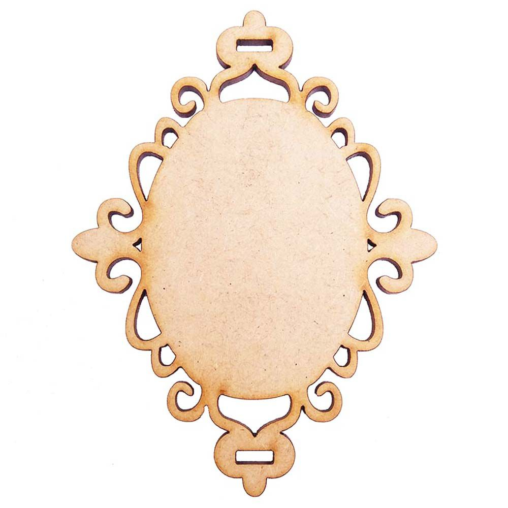 Placa mdf moldura escapulário 12 cm m2 artesanato decoração