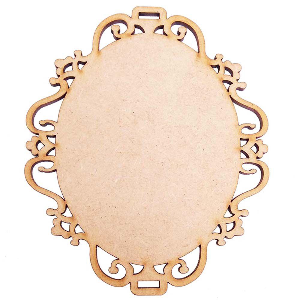 Placa moldura escapulário mdf 12 cm m1 artesanato decoração