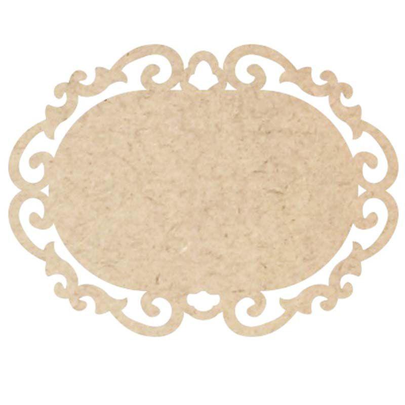 Placa oval mdf arabesco 14 x 10 cm decoração artesanato