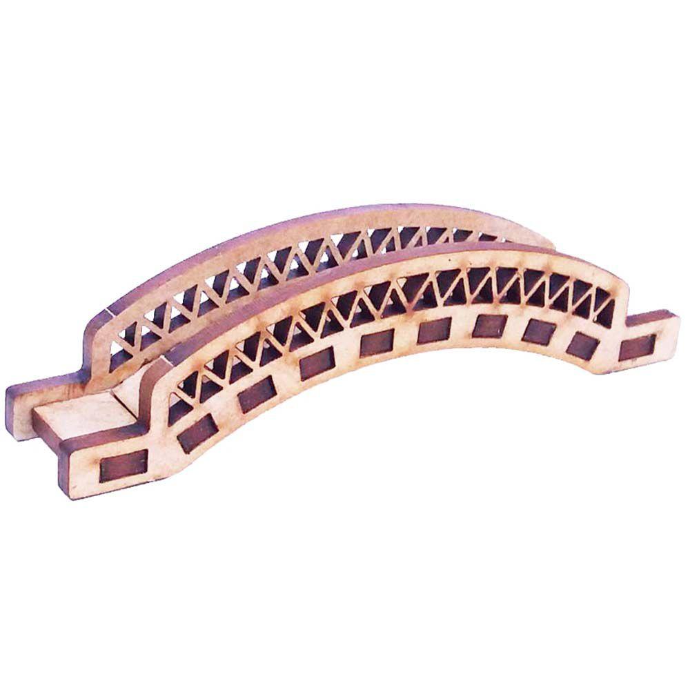 Ponte suspensa 10cm miniatura mdf para personalizado de luxo