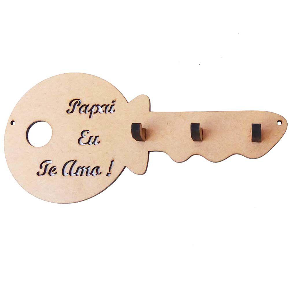 Porta chave 20 cm vazado papai eu te amo Dia dos pais