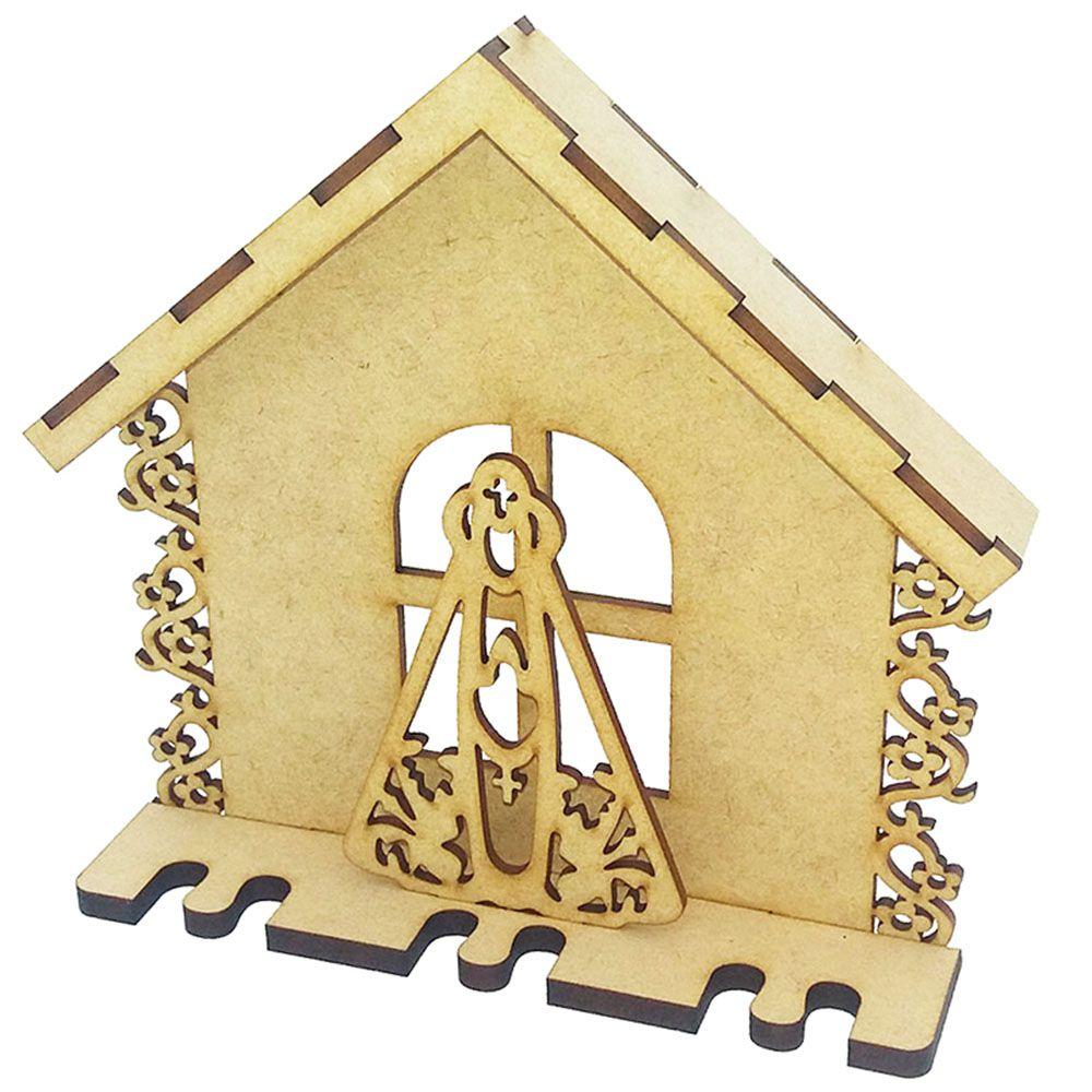Porta chave casinha nossa senhora 19 cm artesanato religioso