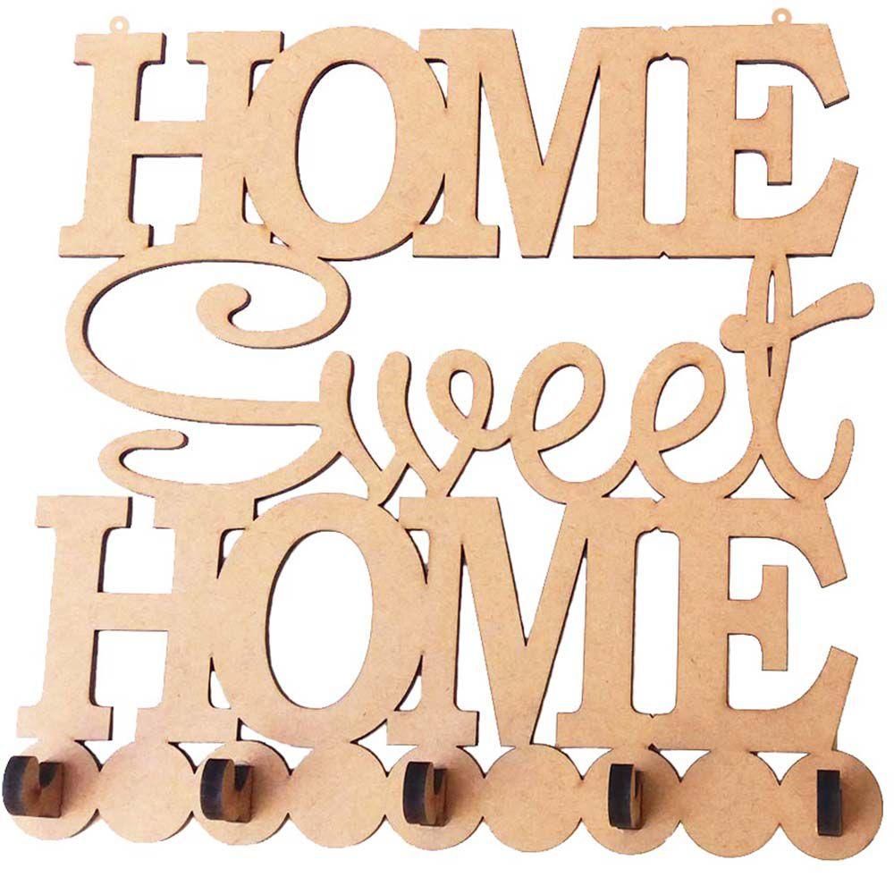 Porta chave mdf home sweet home decoração casa