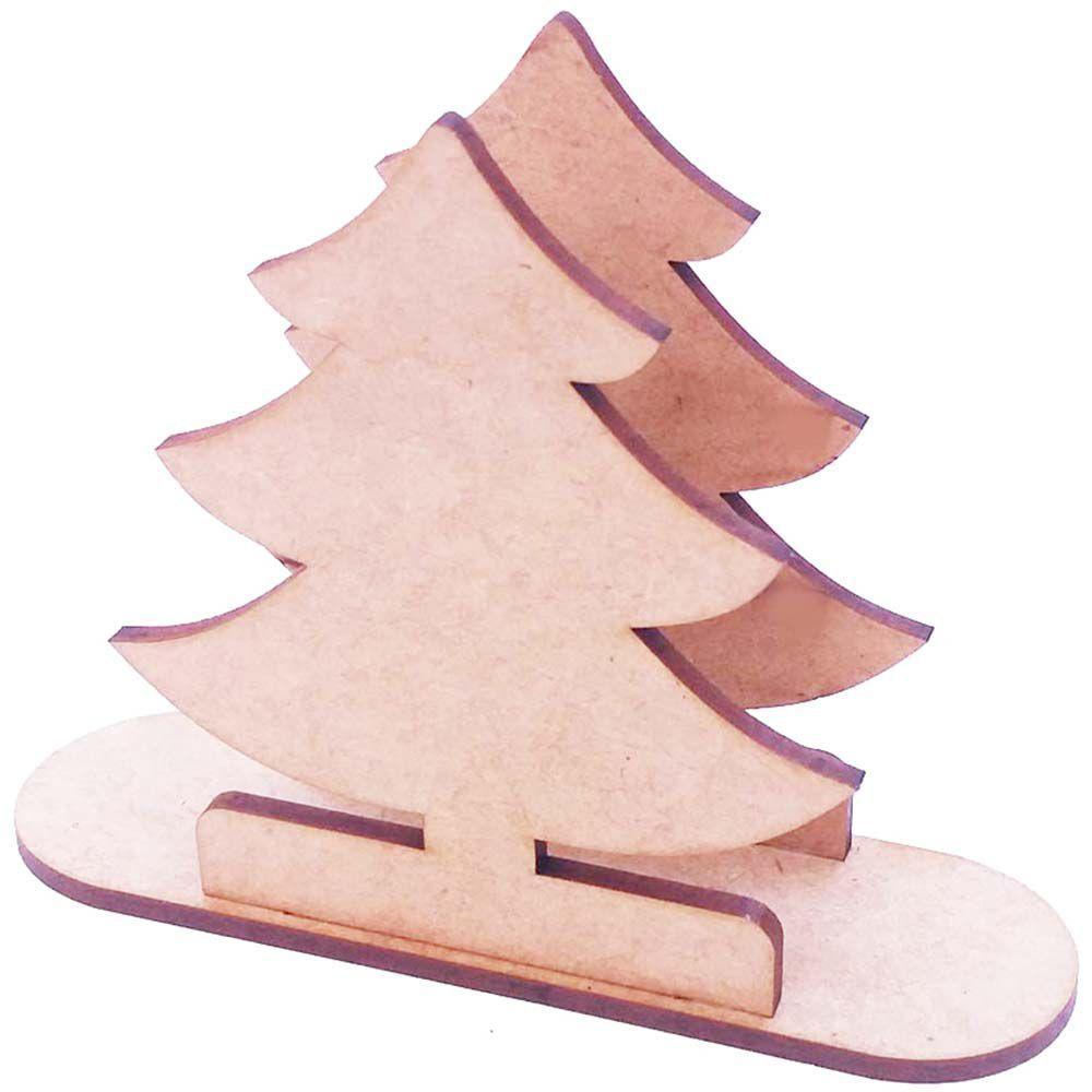 Porta guardanapo mdf árvore de natal decoração mesa de festa