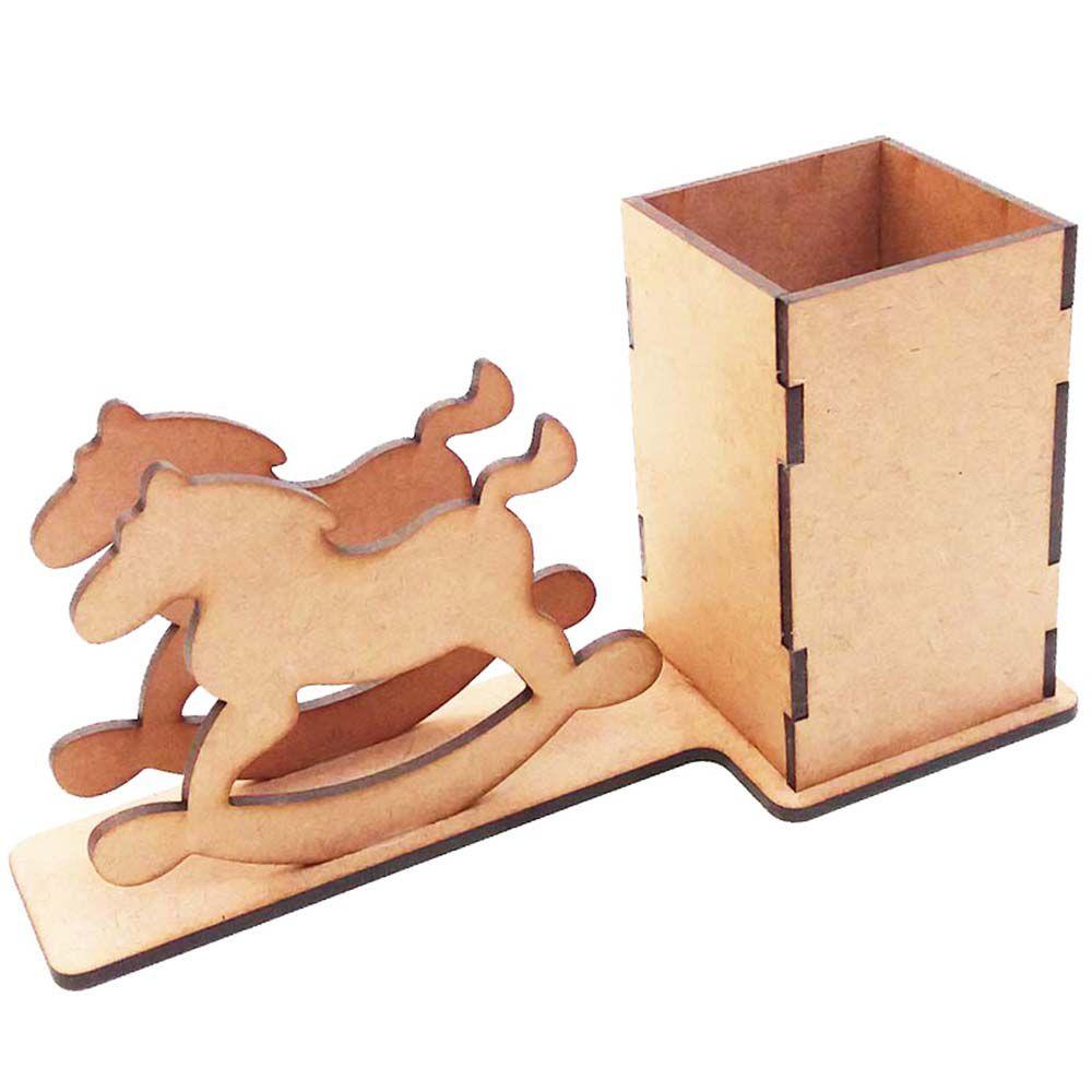 Porta guardanapo mdf cavalinho balanço porta treco caneta