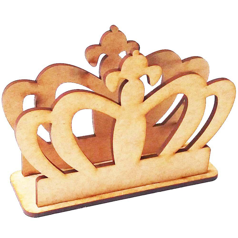 Porta guardanapo mdf coroa m12 festa príncipe princesa