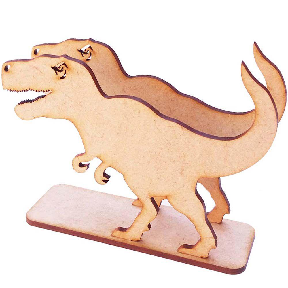 Porta guardanapo mdf dinossauro dino decoração mesa festa