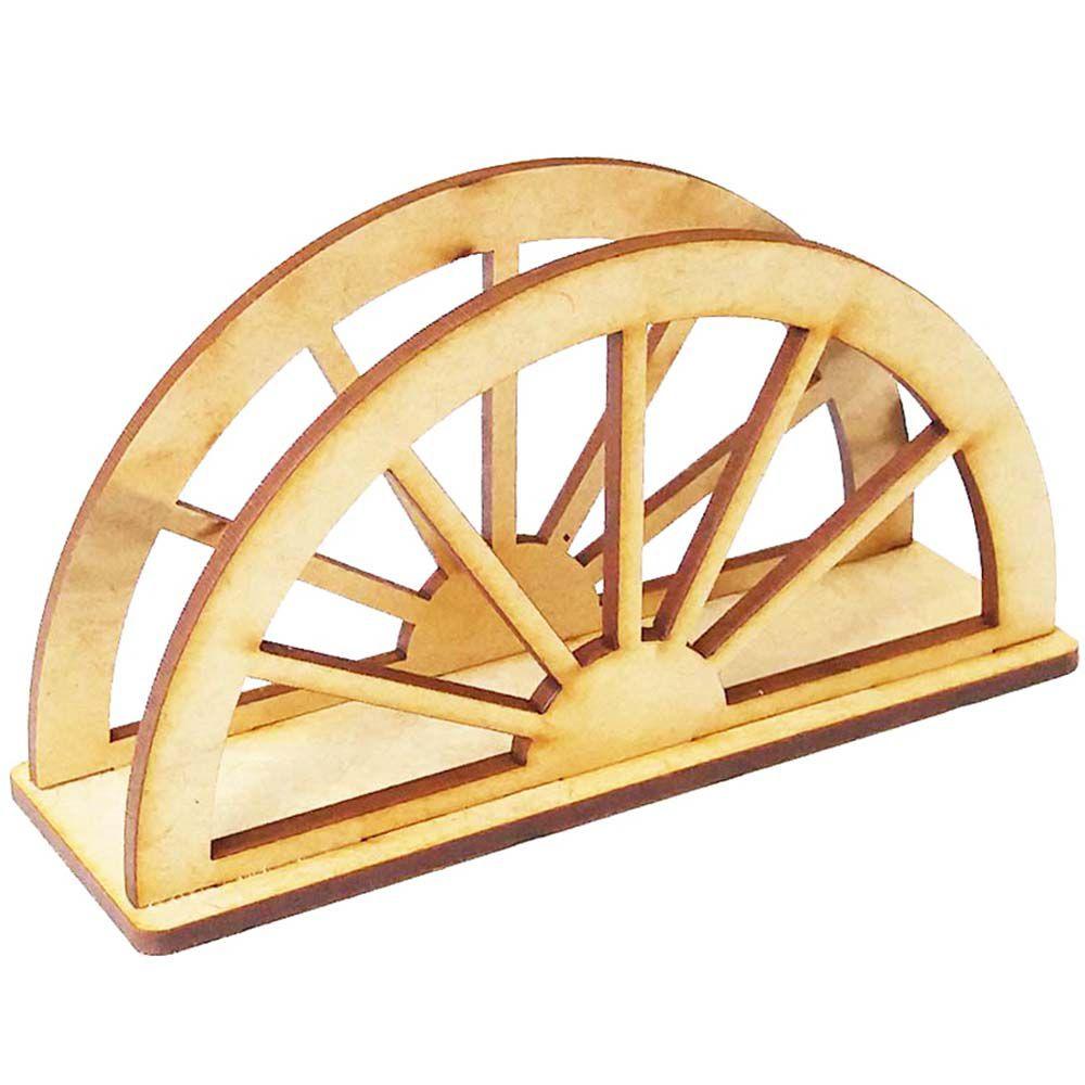 Porta guardanapo mdf roda de carroça country fazendinha