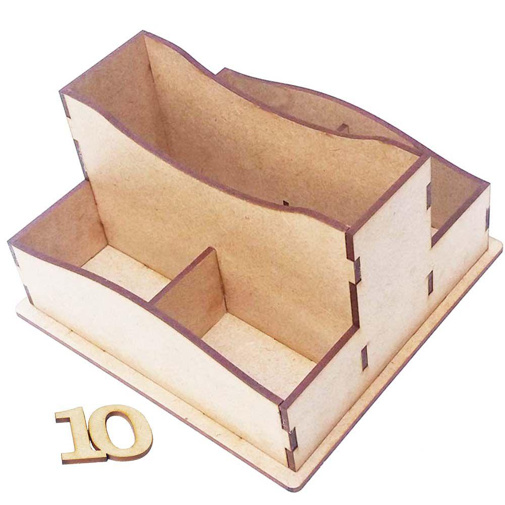 Porta guardanapo mdf sache duplo com numero bar lanchonete