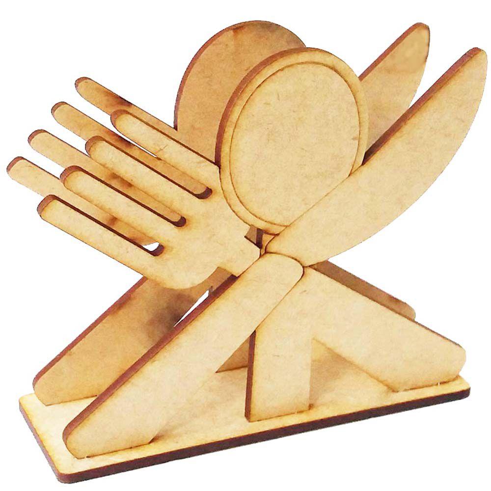 Porta guardanapo mdf talher garfo faca colher festa cozinha