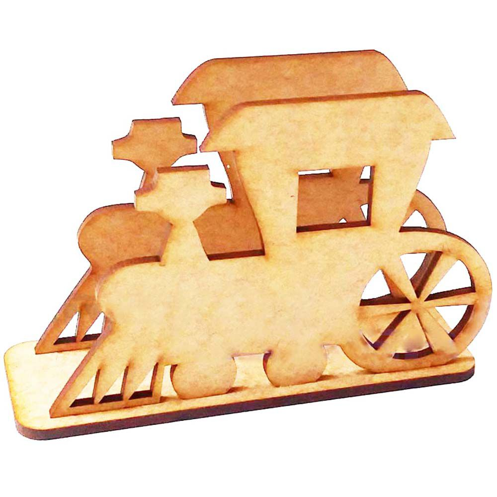 Porta guardanapo mdf trem trenzinho meio de transporte