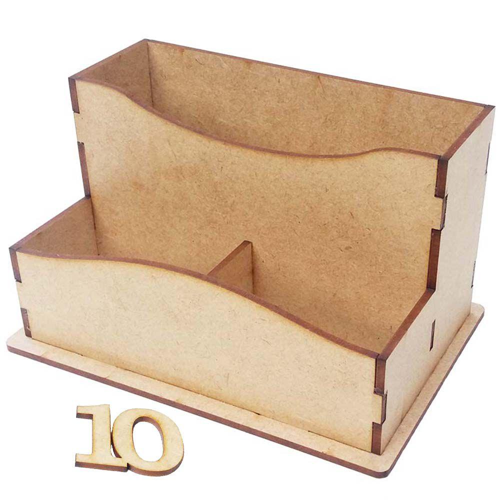 Porta guardanapo sache 15 cm mdf bar boteco restaurante