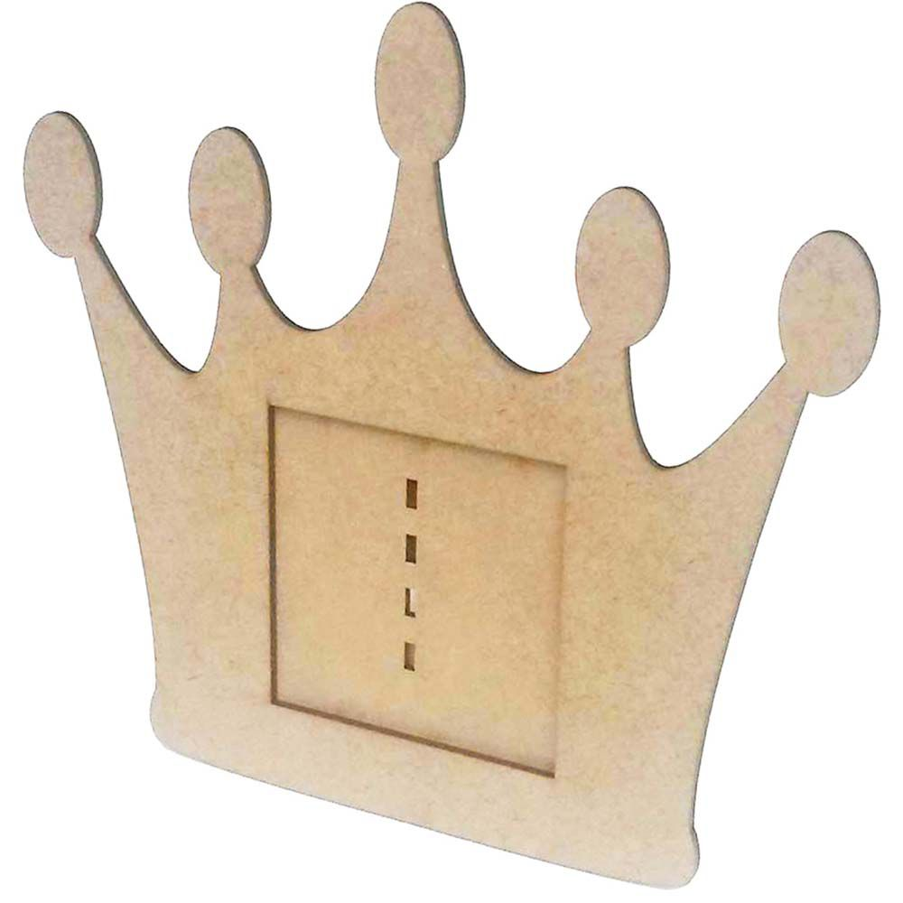 Porta retrato mdf coroa foto 10 cm festa príncipe princesa