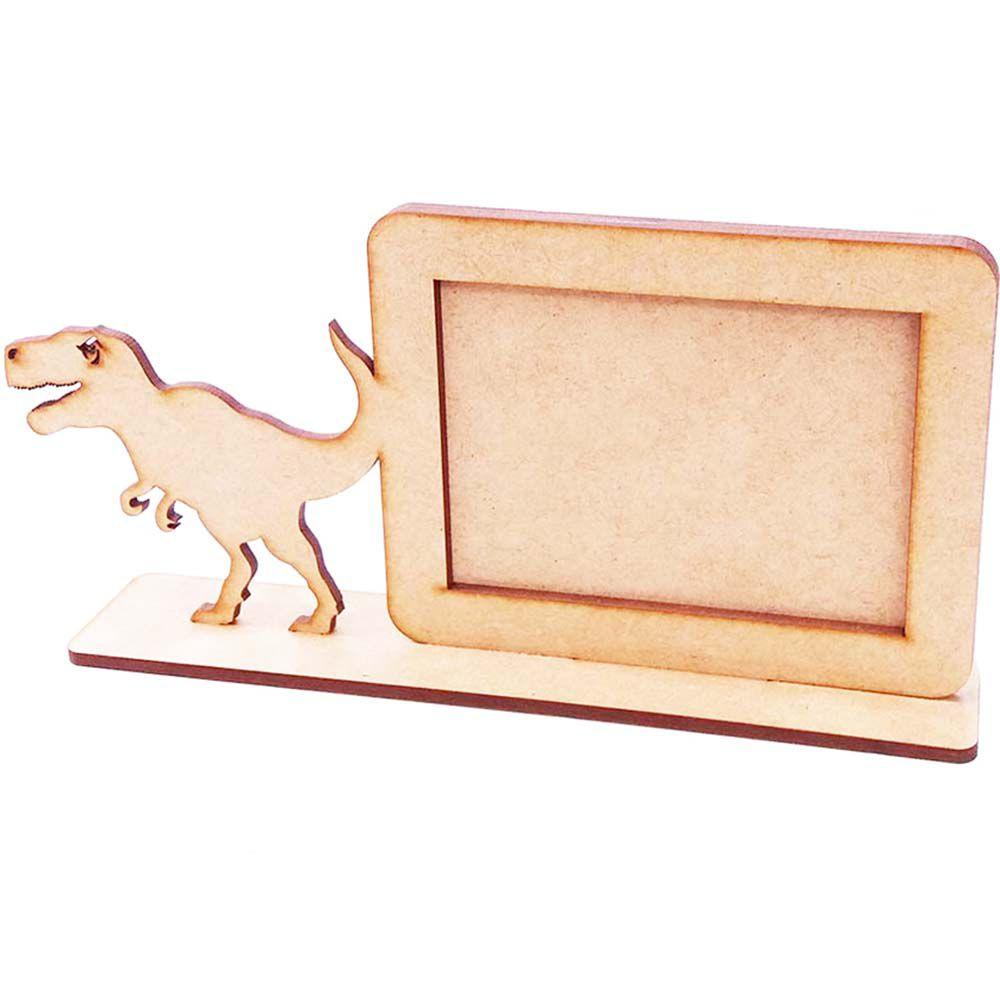 Porta retrato mdf foto 10 x 15 dinossauro dino jurassic