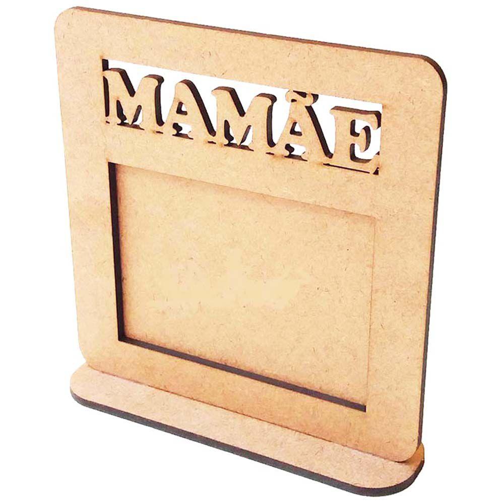Porta retrato mdf foto 10 x 7,5cm hz mamãe dia das mães