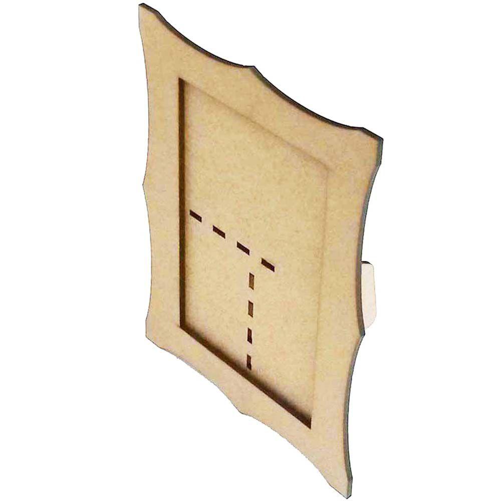 Porta retrato ondulado mdf 13 x 18 artesanato festa bebê