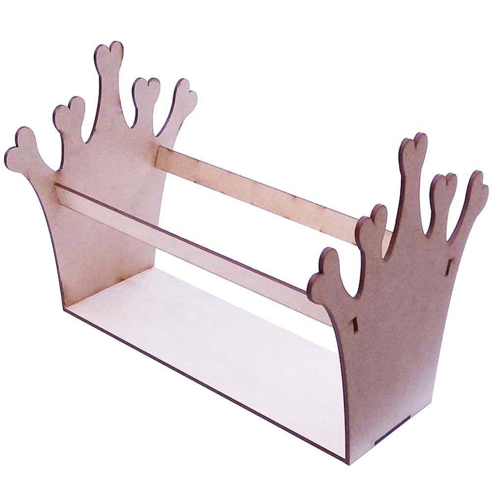 Porta tiara mdf coroa menina princesa suporte expositor