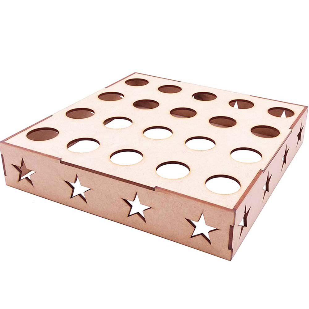 Porta tubete e cone em mdf estrela 20 lugar decoração festa