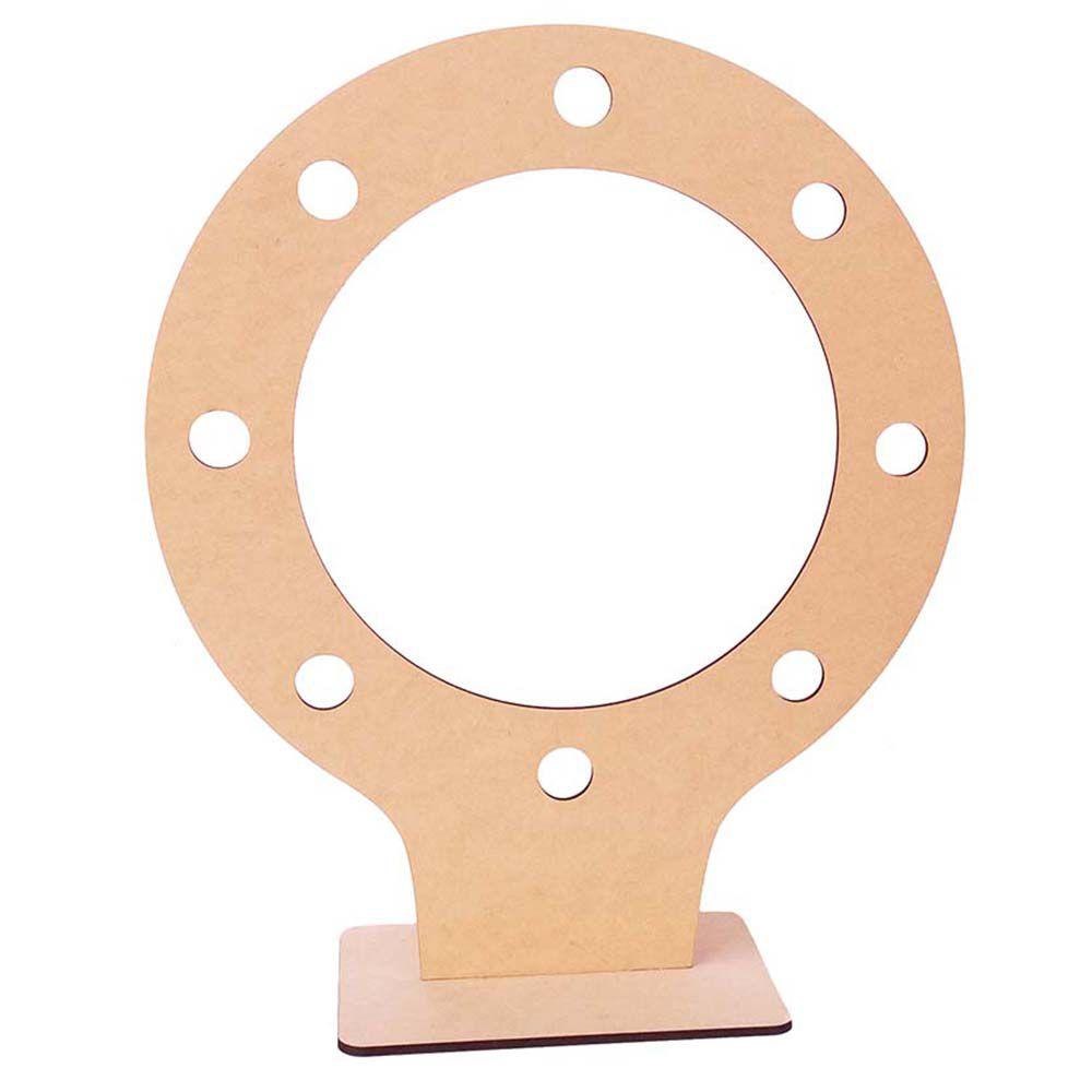 Ring light mdf 50 x 60 cm 8 furos bocal moldura luz camarim
