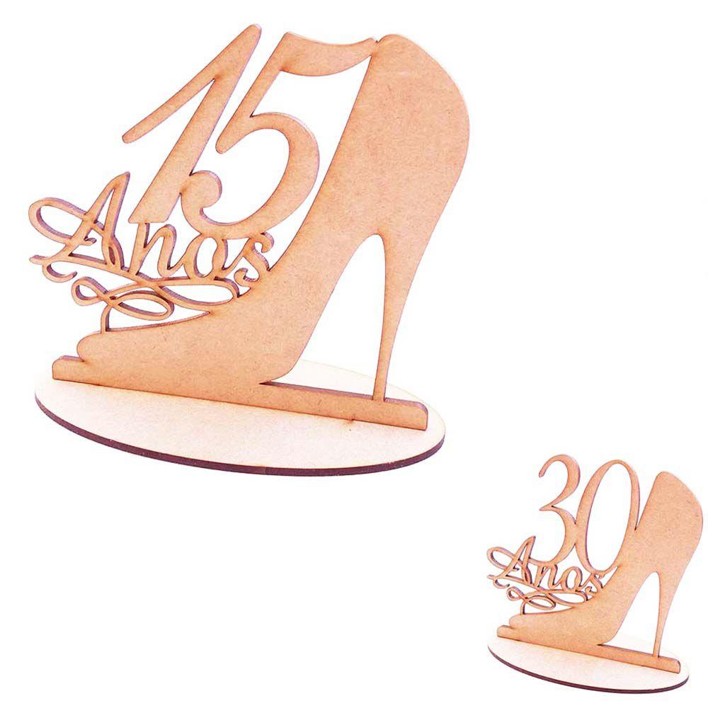 Sapato sapatinho cinderela mdf topo de bolo aniversário