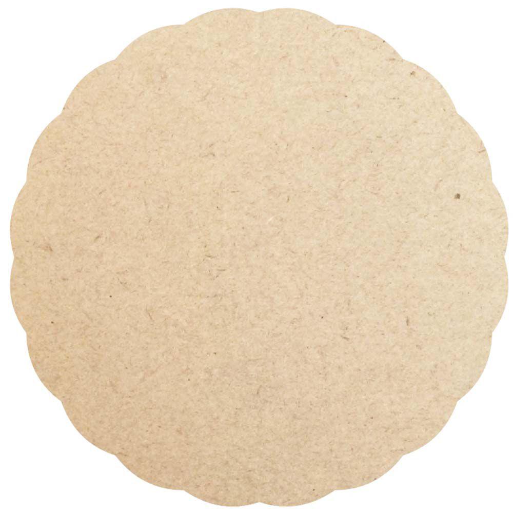 Sousplat 30 cm borda ondulada supla disco mdf
