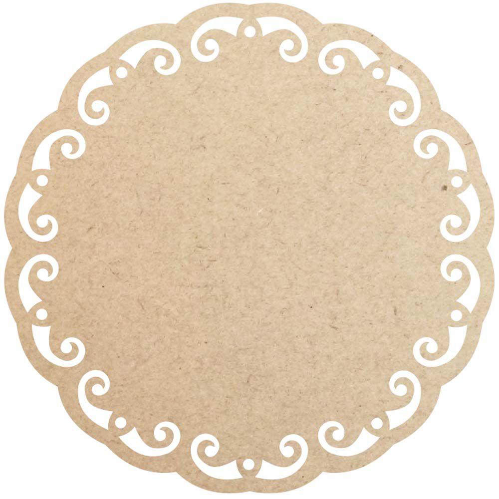 Sousplat 30 cm provençal supla disco mdf placa artesanato