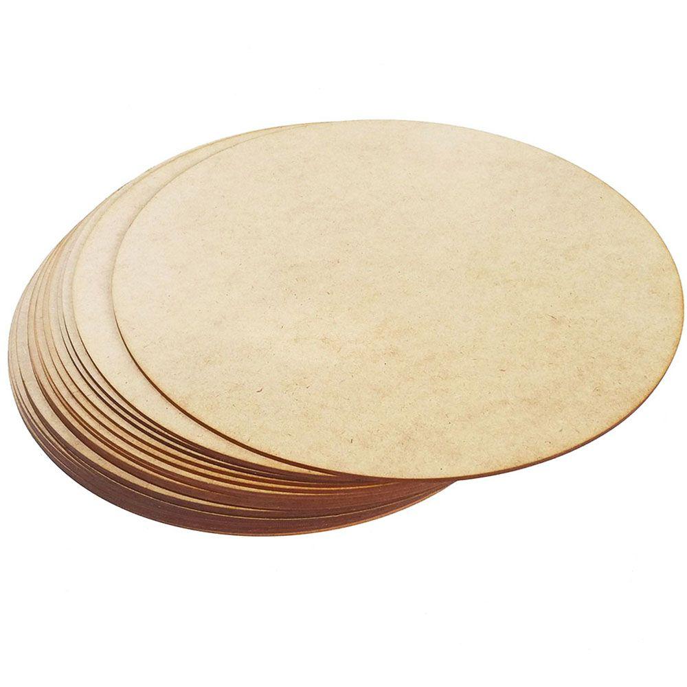 Sousplat disco liso 35cm mdf decoração mesa casa artesanato