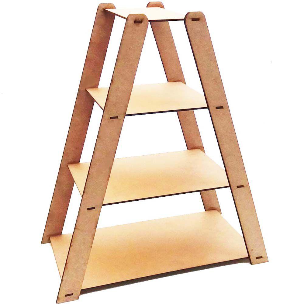 Suporte escada porta doce 4 degraus lateral reforçada