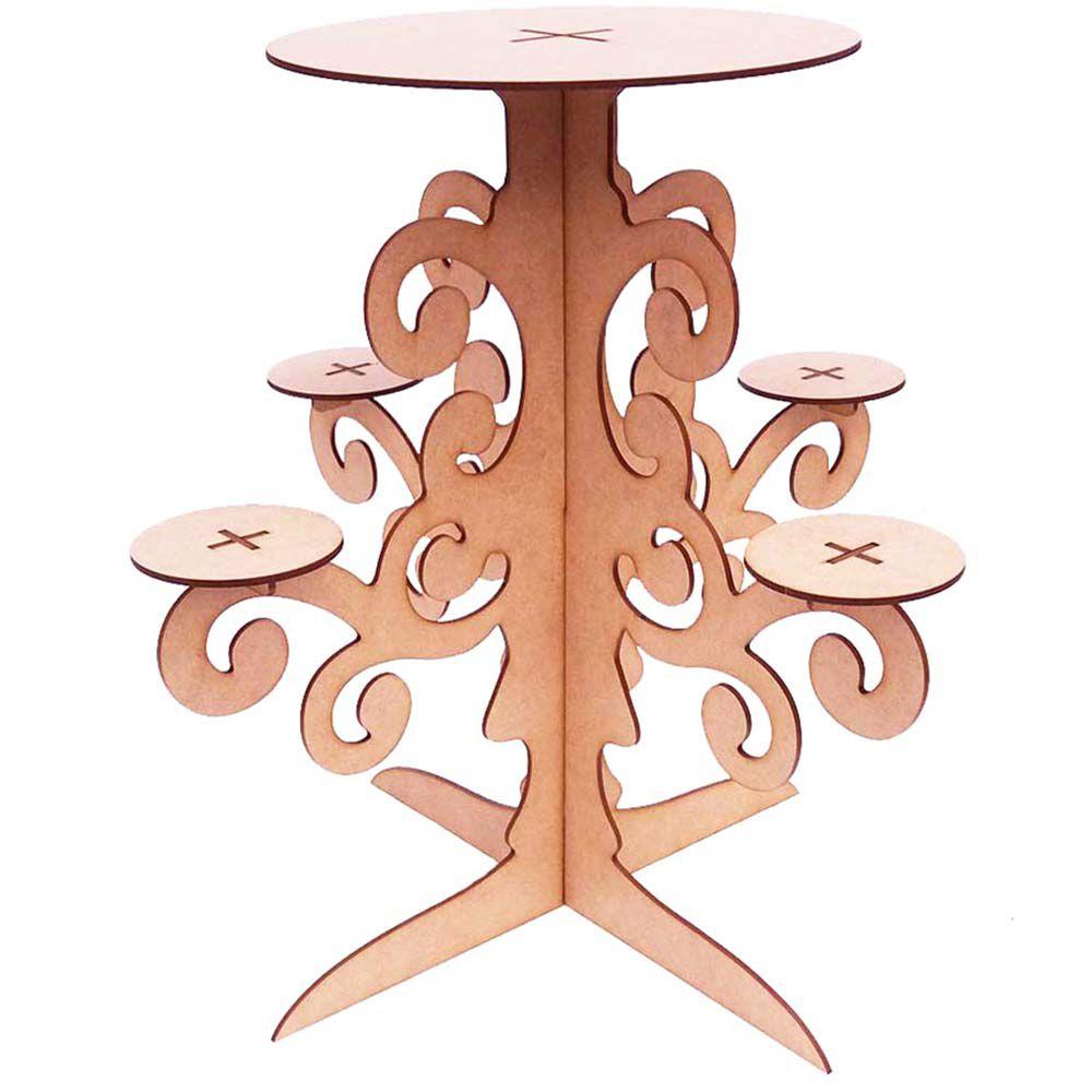 Suporte tipo candelabro castiçal mdf 6mm festa enfeite mesa