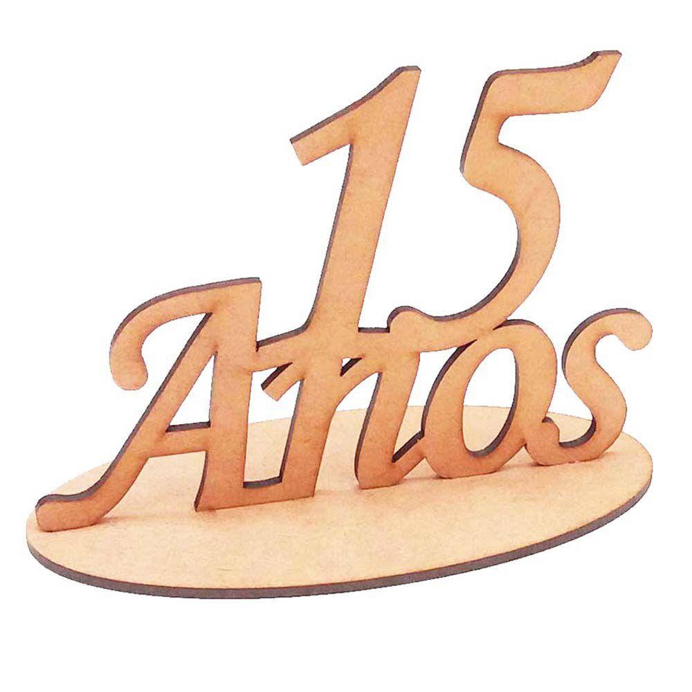 Topo de bolo totem mesa lembrancinha 15 anos mdf aniversário