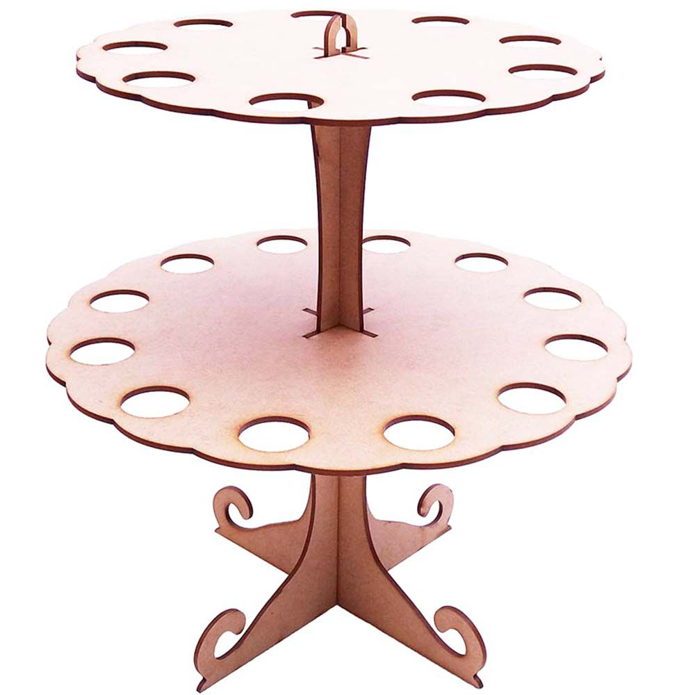 Torre mdf porta tubete e cone decoração centro mesa festa