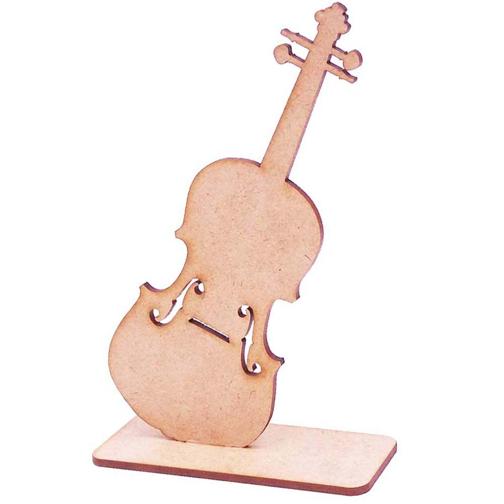 Totem display mdf Violino 15cm lembrancinha festa concerto