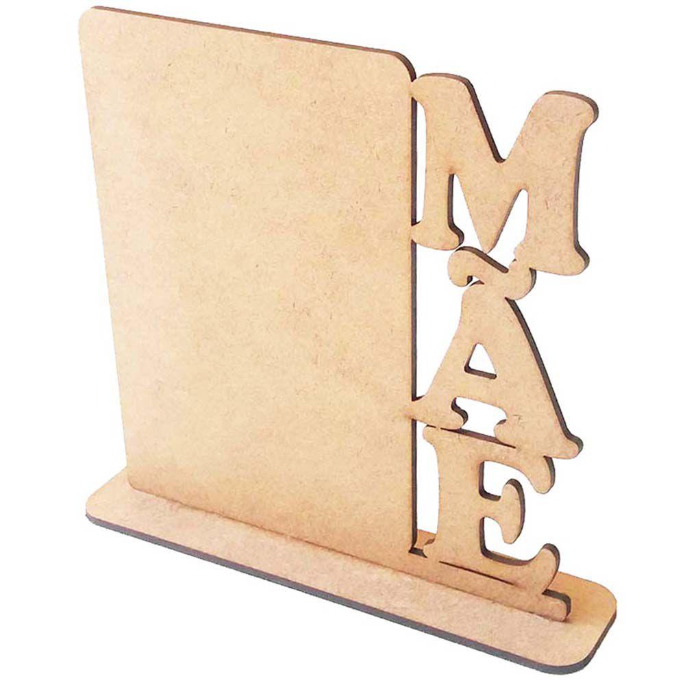 Totem placa mdf porta foto recado Mãe Dia das Mães