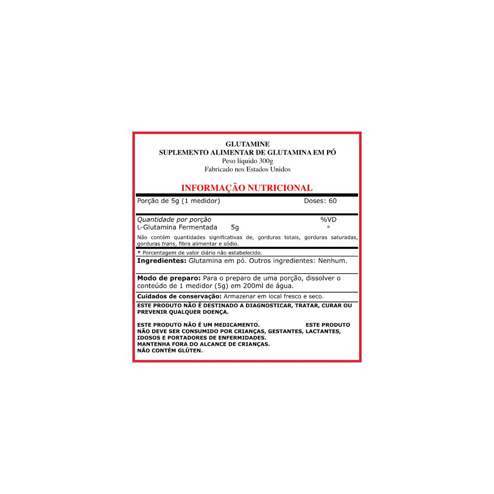 Glutamina importada (AJINOMOTO) - 300g (60 doses)