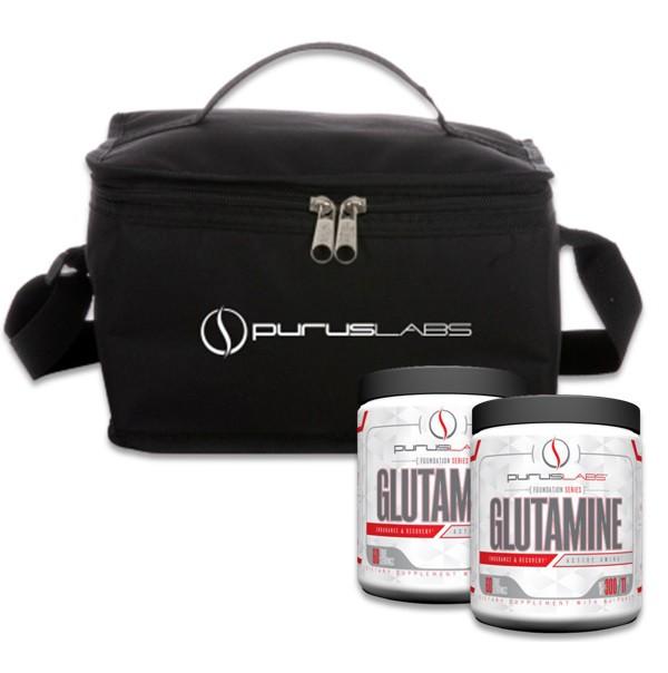 Glutamina em dobro + bolsa termica